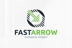 Fast Arrow Logo Template