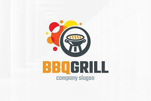 BBQ Grill Logo Template