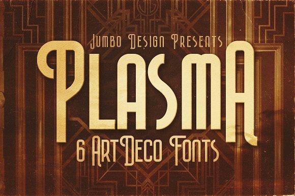Plasma ArtDeco Style Font