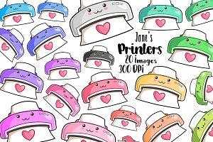 Kawaii Printers Clipart