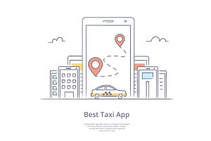 Mobile app for ordering taxi,