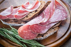 Different kinds of salami