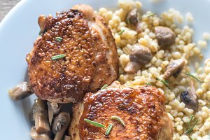 Spicy chicken with bulgur