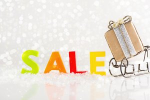 Winter sales or shopping concept