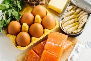 Food rich of natural vitamin D