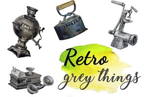 Vintage grey things.