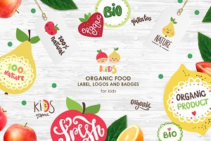 Organic food labels and logos