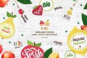 Organic food labels and logos