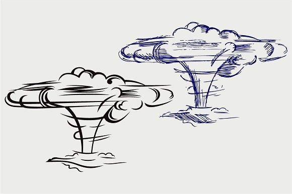 Atomic Explosion SVG DXF