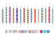 Set of hippy friendship bracelets