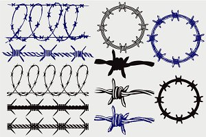 Barbed wire SVG