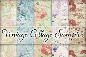 Floral Ephemera Backgrounds #1