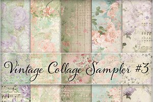 Floral Ephemera Backgrounds #3