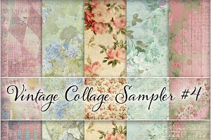 Floral Ephemera Backgrounds #4