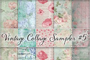 Floral Ephemera Backgrounds #5
