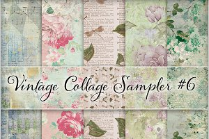 Floral Ephemera Backgrounds #6