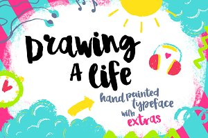 Drawing a Life - Brush Font & Extras
