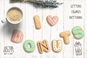 Tasty donuts set