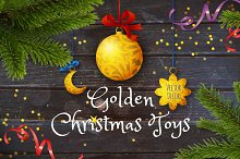 Golden Christmas Toys