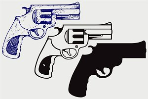 Old pistol SVG