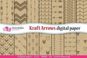 Kraft Arrows Digital Paper