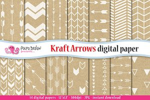 Kraft Arrow Digital Paper