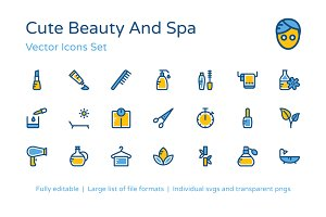100+ Beauty and Spa Icons Set
