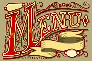 Vintage Graphic Element for Menu