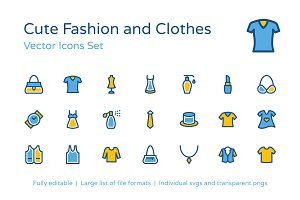 125+ Fashion and Clothes Icons Set