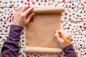 man writes in a christmas  list