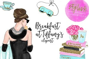 Breakfast at Tiffany's Clipart