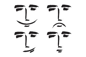 emotions of the human face.