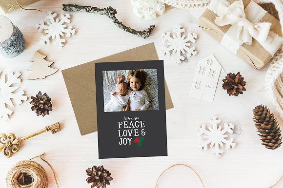 Peace Love Joy Holiday Card