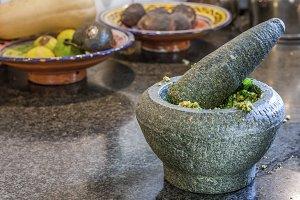 Pesto making