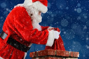 Santa Claus Bag Chimney