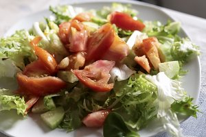 Plate of salade varied