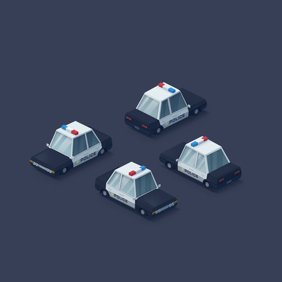 Low Poly 2D Cars in Objects - product preview 5
