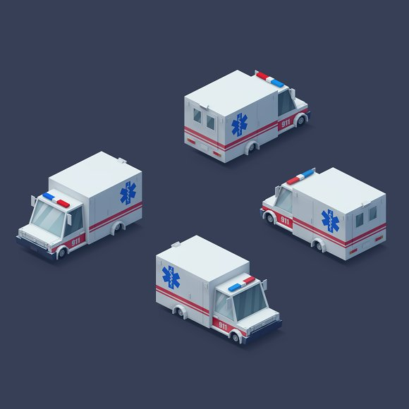Low Poly 2D Cars in Objects - product preview 6