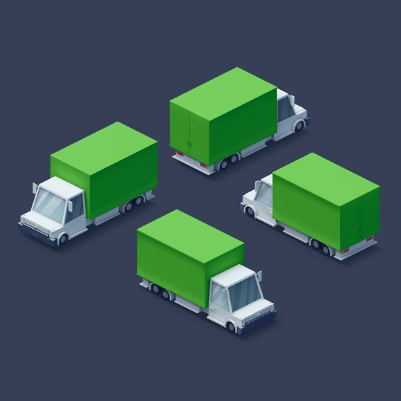 Low Poly 2D Cars in Objects - product preview 7