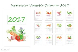 Calendar 2017 Watercolor Vegetables
