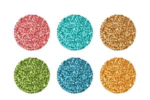 Glitter set of colorful texture