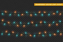 Garlands decorations lights effects