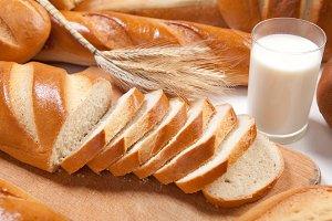 White freash bread