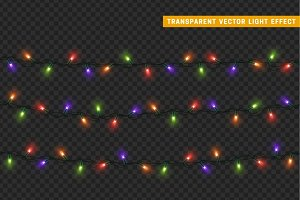 Christmas lights garlands