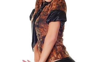 a beautiful brunet woman