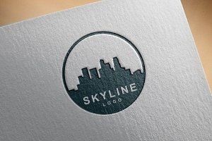 City Building Skyline Logo 3 Version