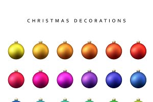 Christmas decoration balls range