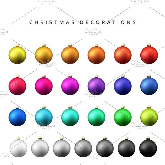 Christmas Decoration Balls Range