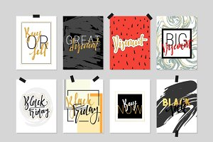 Flat design cards sale discount