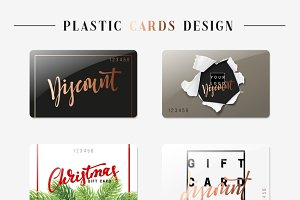Set of gift discount cards.